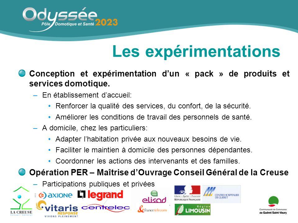 Les expérimentations Conception et expérimentation dun « pack » de produits et services domotique.