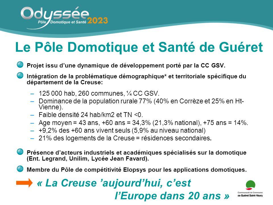 Le Pôle Domotique et Santé de Guéret Projet issu dune dynamique de développement porté par la CC GSV.
