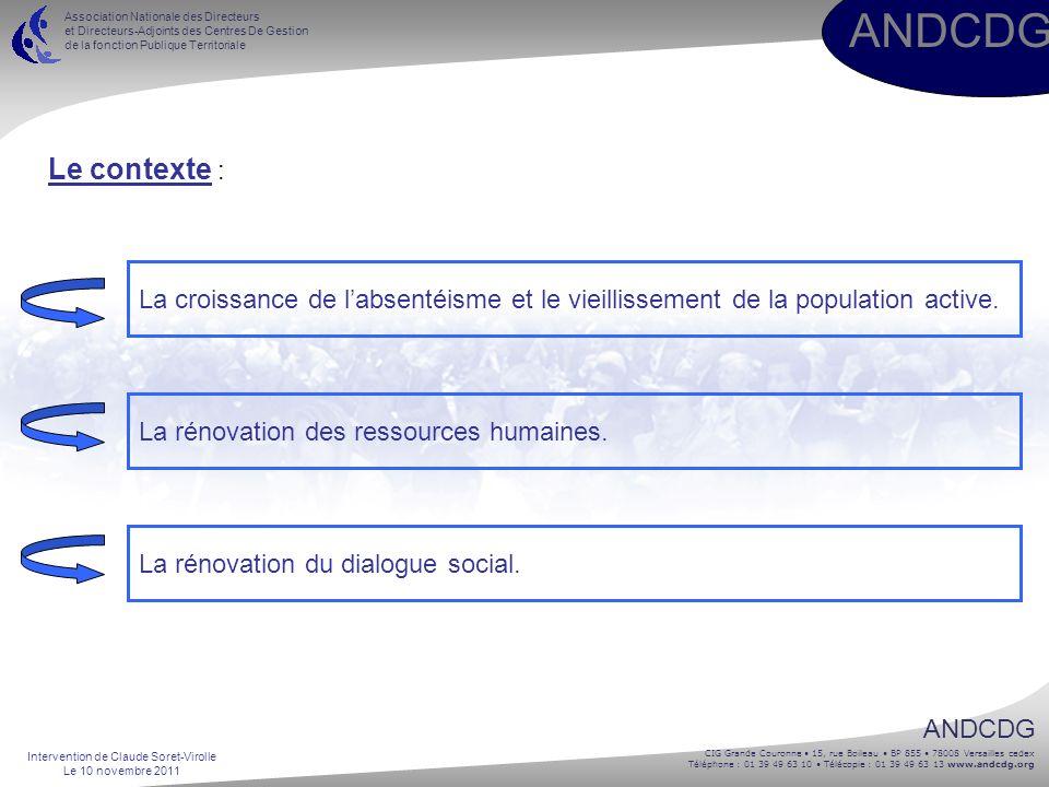 ANDCDG CIG Grande Couronne 15, rue Boileau BP 855 78008 Versailles cedex Téléphone : 01 39 49 63 10 Télécopie : 01 39 49 63 13 www.andcdg.org ANDCDG A