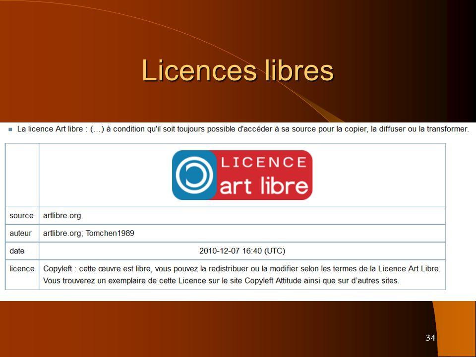 34 Licences libres