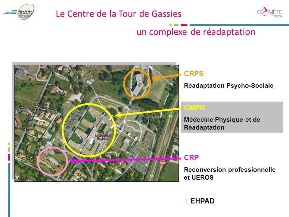 Le Centre de la Tour de Gassies un complexe de réadaptation CRPS Réadaptation Psycho-Sociale CMPR Médecine Physique et de Réadaptation CRP Reconversion professionnelle et UEROS + EHPAD