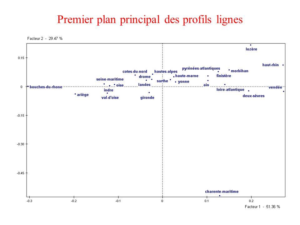 17 Premier plan principal des profils lignes