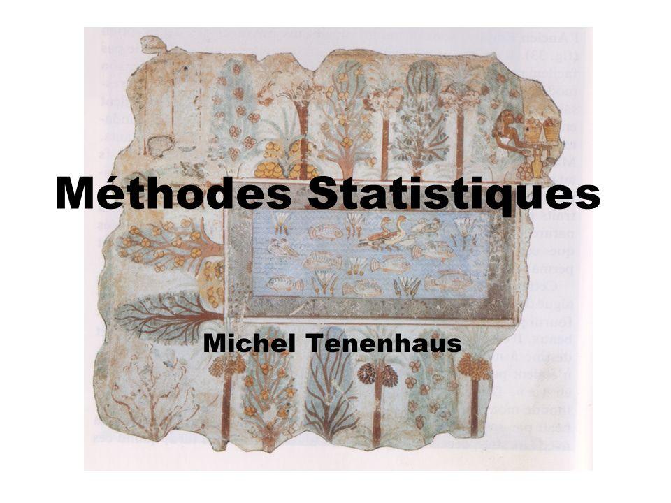 Méthodes Statistiques Michel Tenenhaus