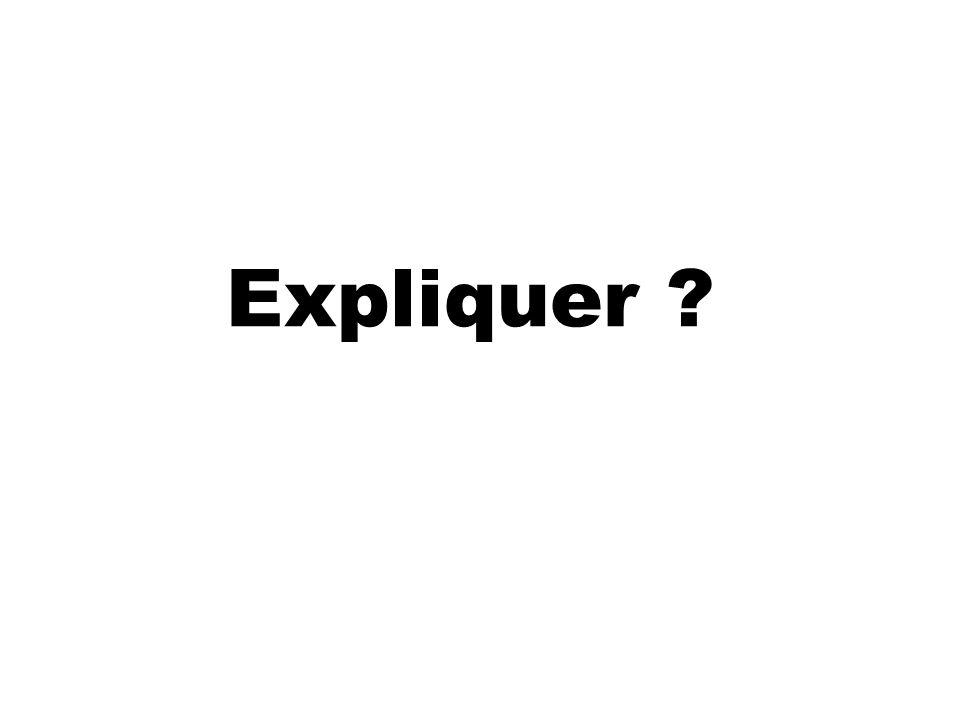 Expliquer ?