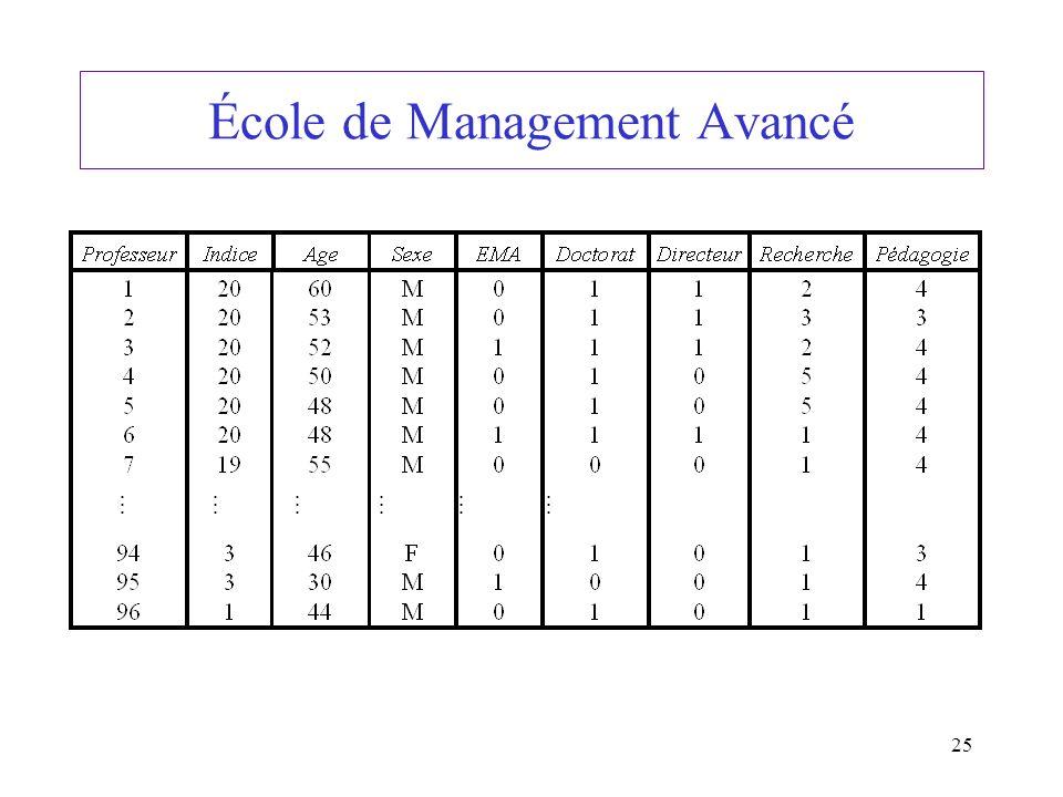 25 École de Management Avancé