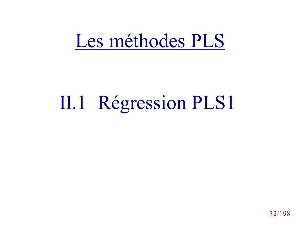 32/198 Les méthodes PLS II.1 Régression PLS1