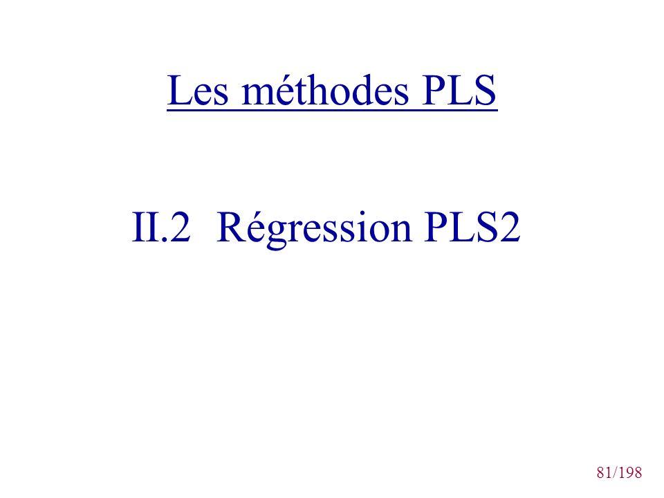 81/198 Les méthodes PLS II.2 Régression PLS2