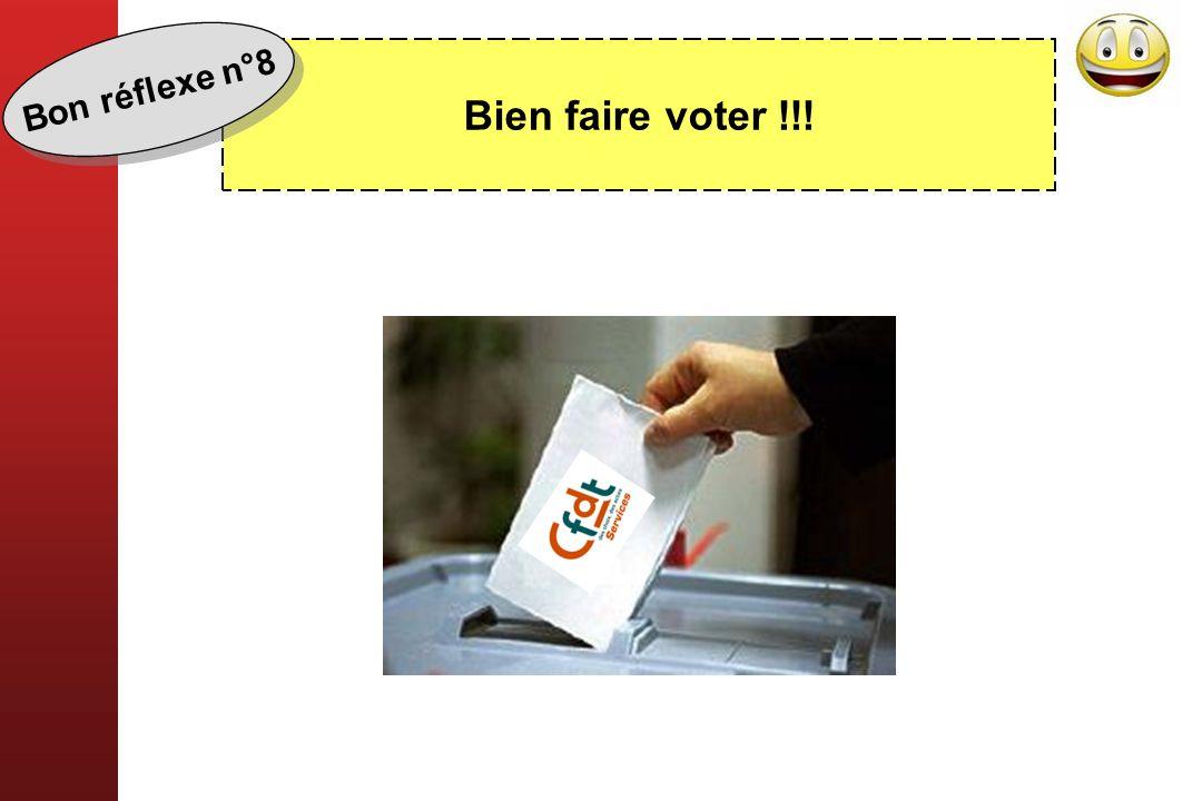 Bien faire voter !!! Bon réflexe n°8