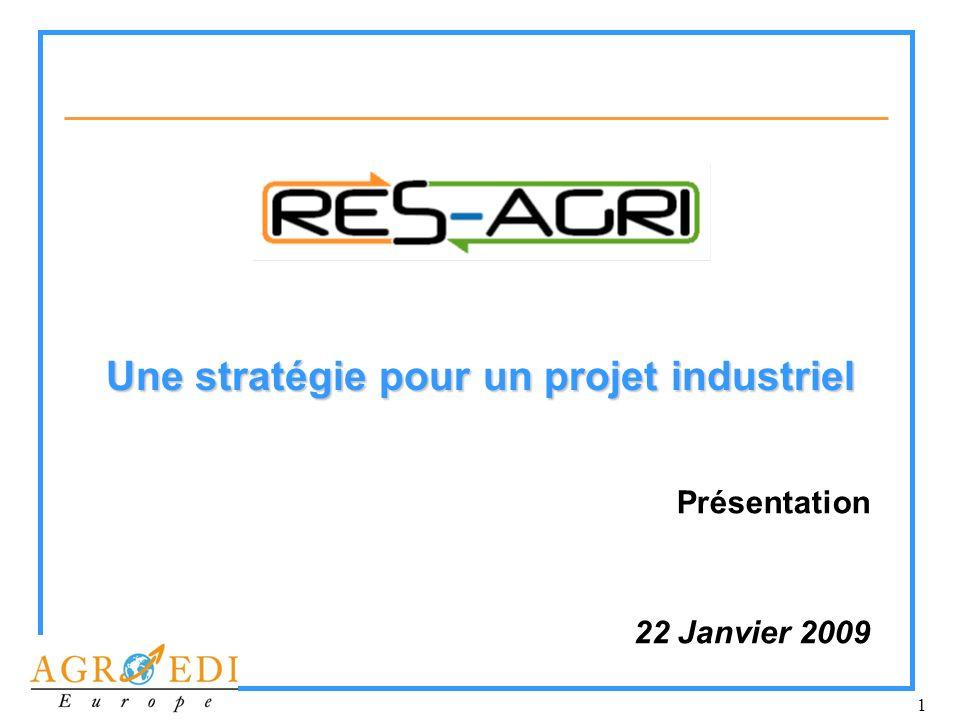 1 Une stratégie pour un projet industriel Présentation 22 Janvier 2009