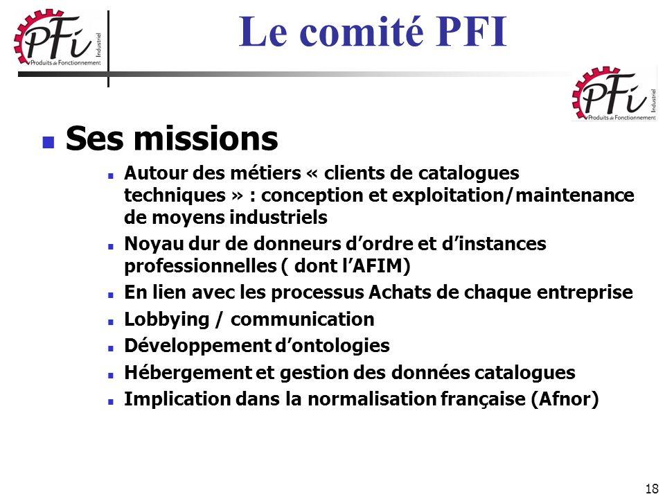 18 Ses missions Autour des métiers « clients de catalogues techniques » : conception et exploitation/maintenance de moyens industriels Noyau dur de do