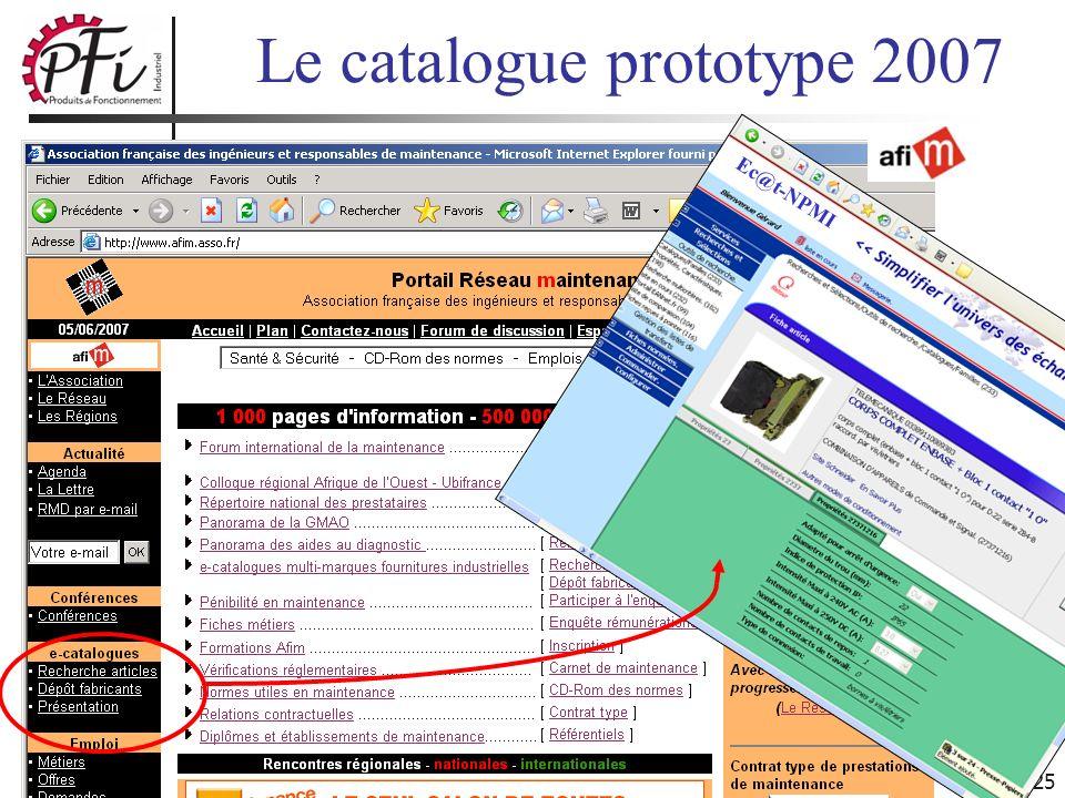25 Ec@t-NPMI Le catalogue prototype 2007
