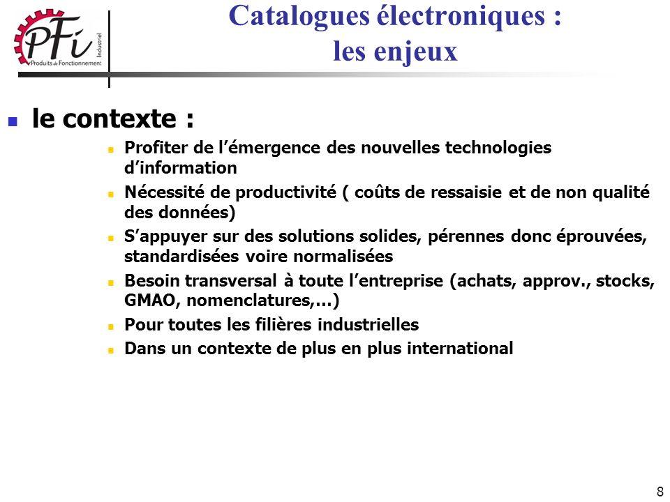 8 le contexte : Profiter de lémergence des nouvelles technologies dinformation Nécessité de productivité ( coûts de ressaisie et de non qualité des do
