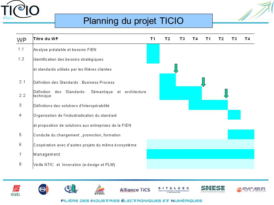 WP Planning du projet TICIO