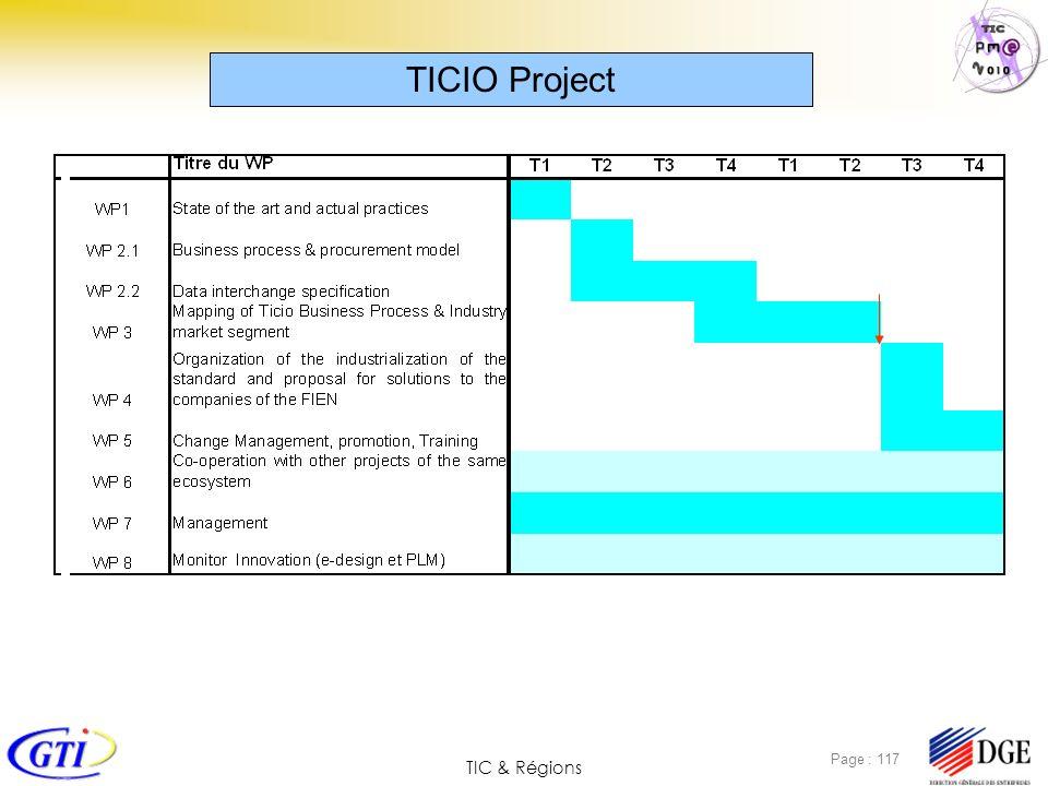 TIC & Régions Page : 117 TICIO Project