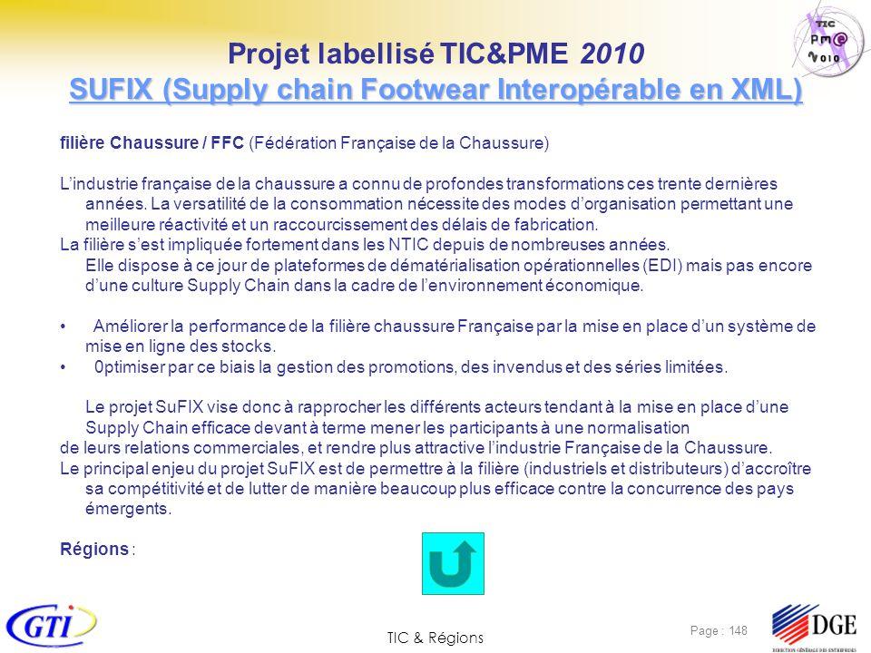 TIC & Régions Page : 148 filière Chaussure / FFC (Fédération Française de la Chaussure) Lindustrie française de la chaussure a connu de profondes tran