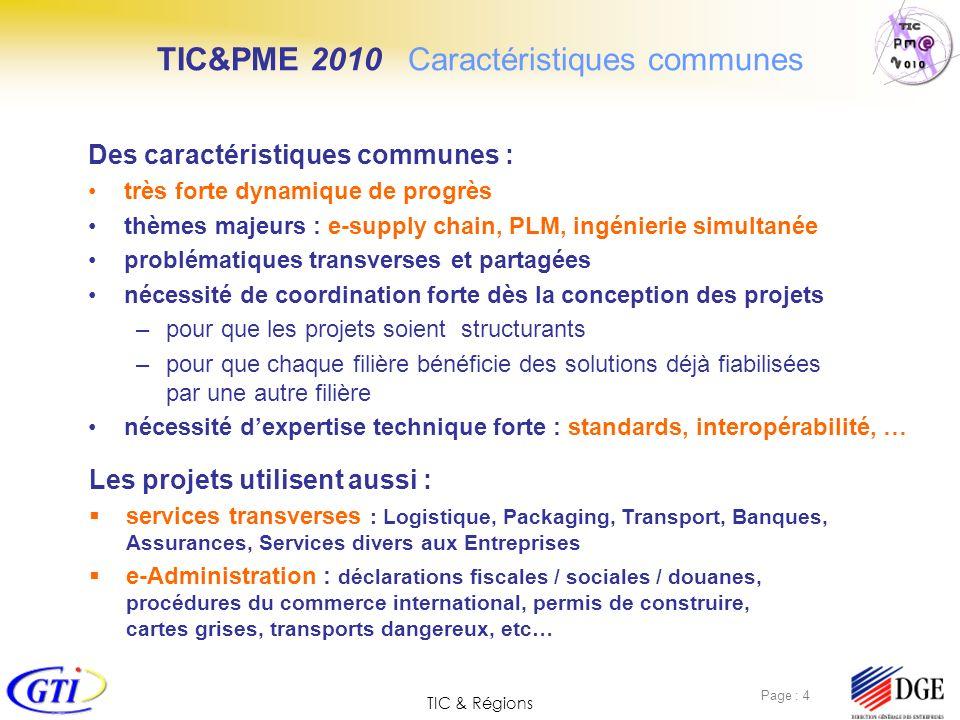 TIC & Régions Page : 125 Questions ?