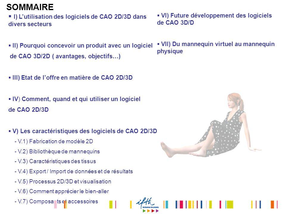 SOMMAIRE I) Lutilisation des logiciels de CAO 2D/3D dans divers secteurs II) Pourquoi concevoir un produit avec un logiciel de CAO 3D/2D ( avantages,