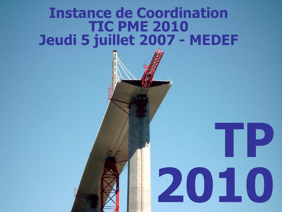 EDIBUILD France EdiBuild France/TP 2010 – COPIL MEDEF 5 juillet 2007 TP 2010 Instance de Coordination TIC PME 2010 Jeudi 5 juillet 2007 - MEDEF