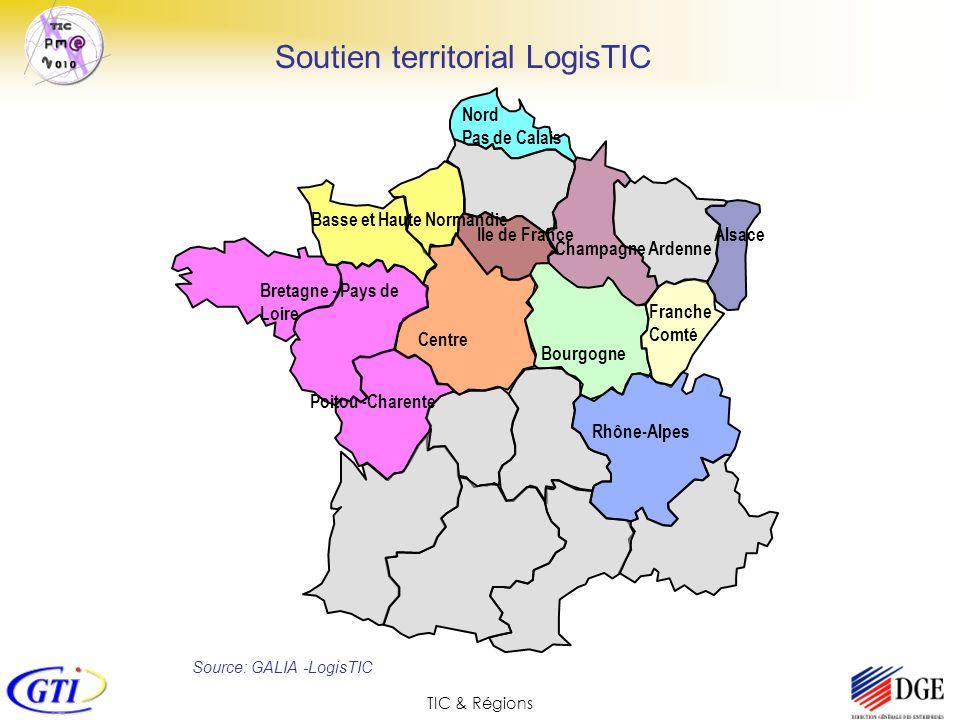 TIC & Régions Bretagne - Pays de Loire Basse et Haute Normandie Champagne Ardenne Centre Franche Comté Rhône-Alpes Poitou -Charente Ile de FranceAlsac