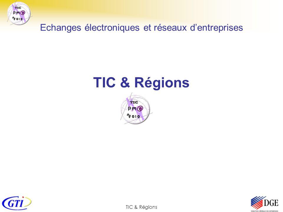 TIC & Régions Echanges électroniques et réseaux dentreprises TIC & Régions