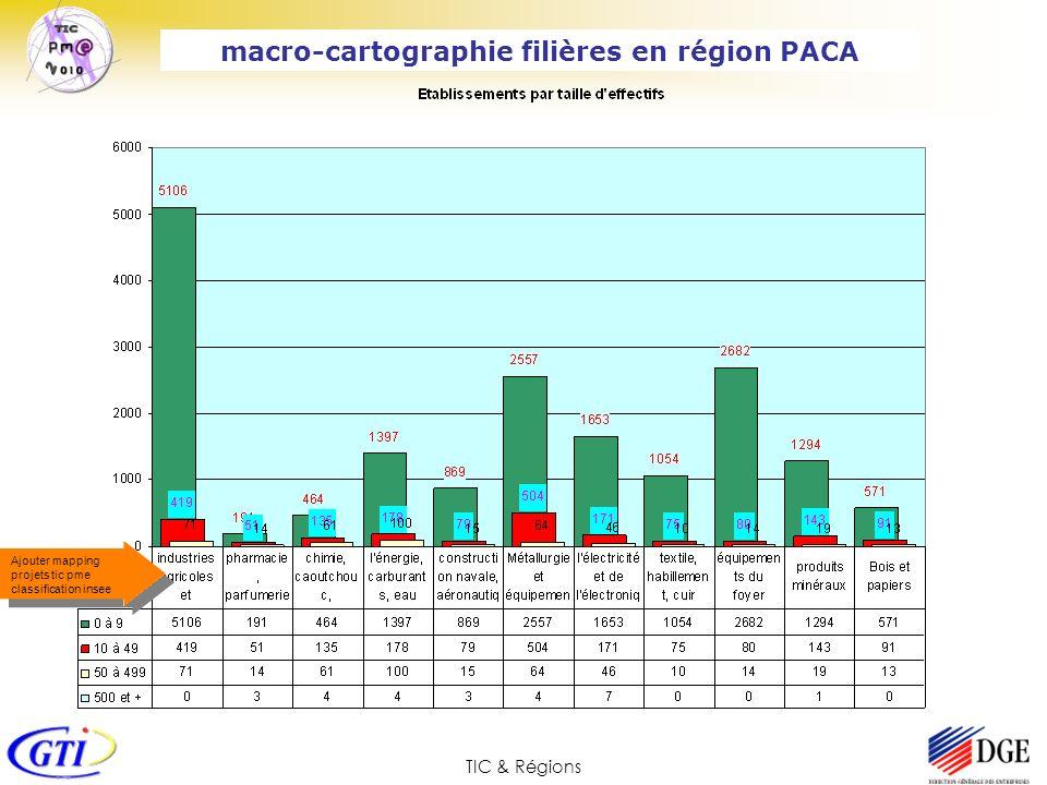 TIC & Régions Ajouter mapping projets tic pme classification insee macro-cartographie filières en région PACA