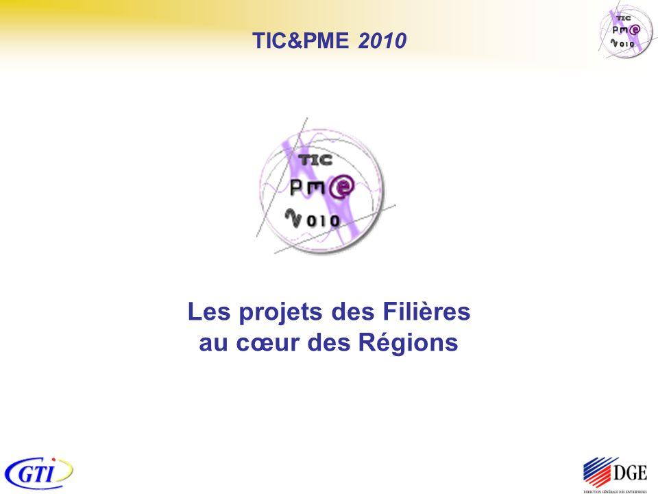 Les projets des Filières au cœur des Régions TIC&PME 2010