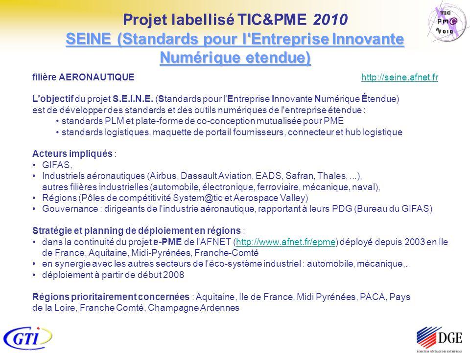 filière AERONAUTIQUE http://seine.afnet.frhttp://seine.afnet.fr Lobjectif du projet S.E.I.N.E. (Standards pour lEntreprise Innovante Numérique Étendue