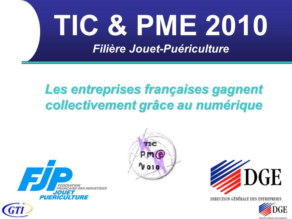 TIC & PME 2010 Filière Jouet-Puériculture Les entreprises françaises gagnent collectivement grâce au numérique