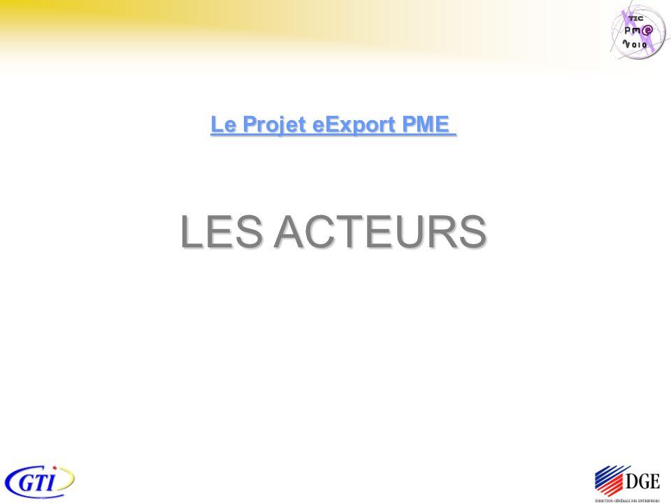 LES ACTEURS Le Projet eExport PME