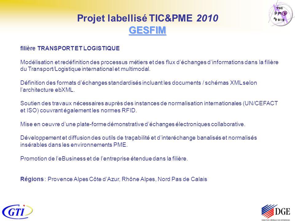 filière TRANSPORT ET LOGISTIQUE Modélisation et redéfinition des processus métiers et des flux déchanges dinformations dans la filière du Transport/Lo