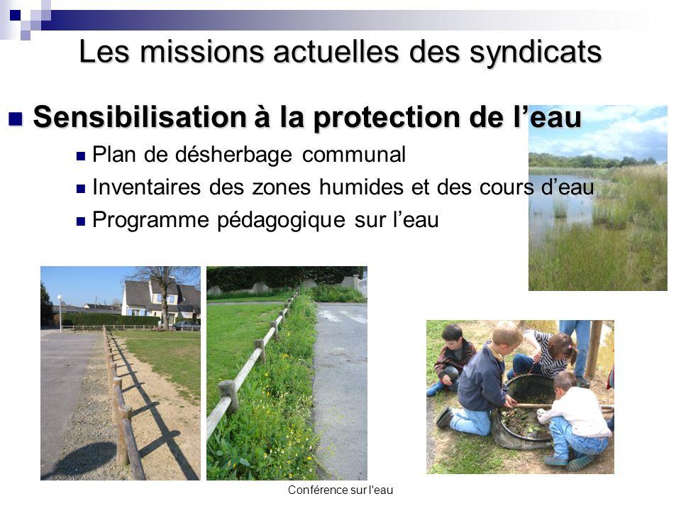 Conférence sur l'eau Sensibilisation à la protection de leau Sensibilisation à la protection de leau Plan de désherbage communal Inventaires des zones