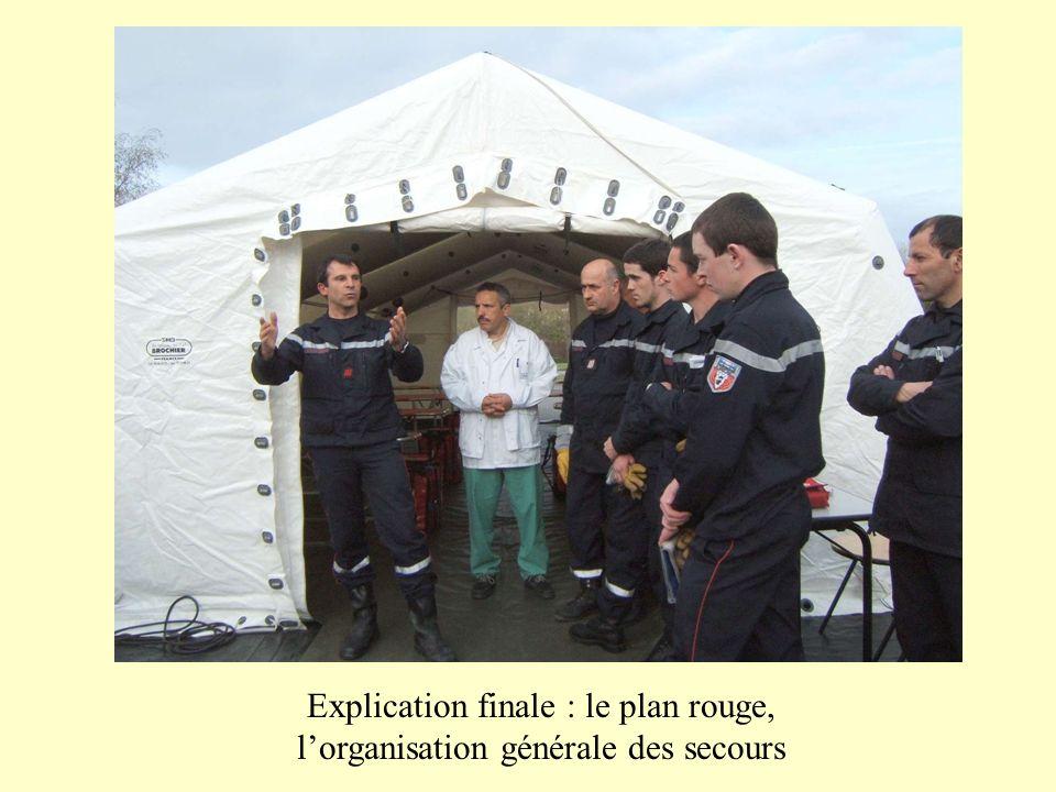 Explication finale : le plan rouge, lorganisation générale des secours