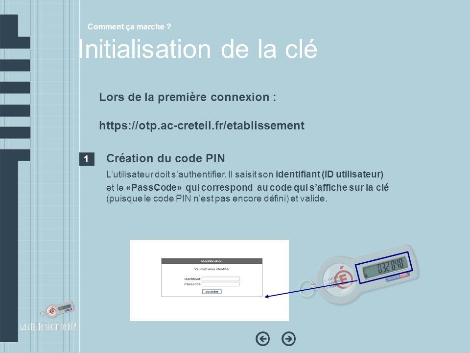 Création du code PIN Lutilisateur doit sauthentifier. Il saisit son identifiant (ID utilisateur) et le «PassCode» qui correspond au code qui saffiche