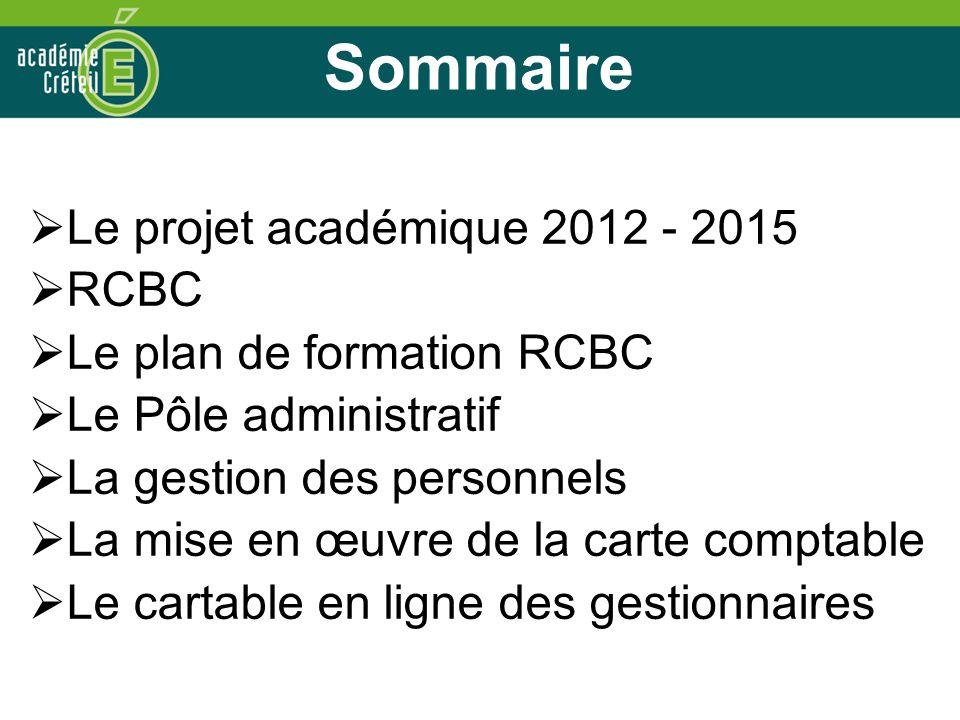 3 Le Projet académique 2012-2015