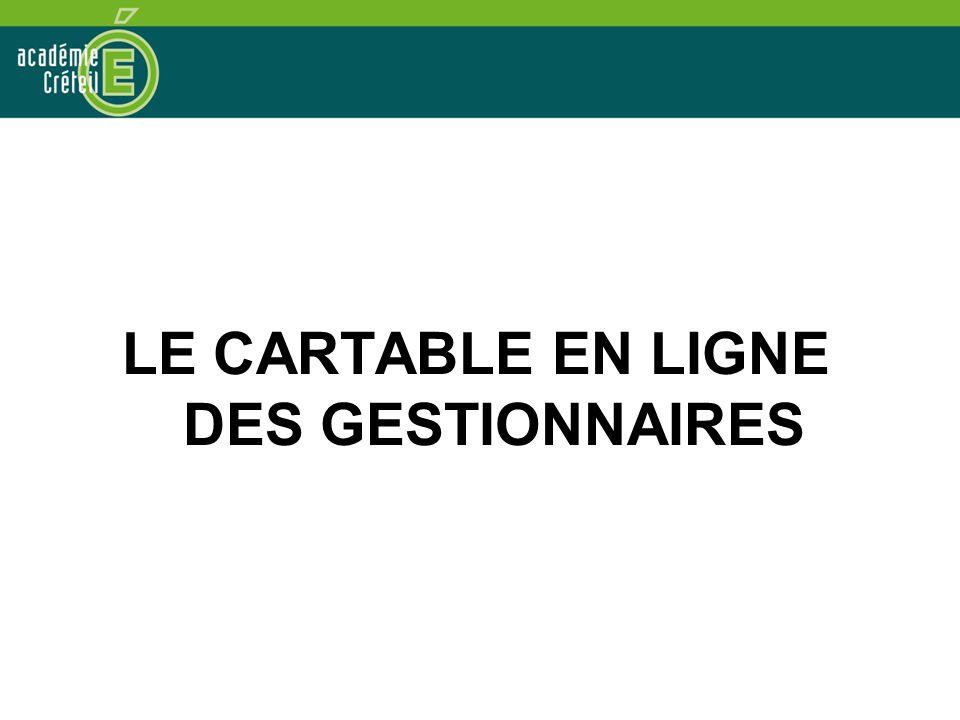 LE CARTABLE EN LIGNE DES GESTIONNAIRES