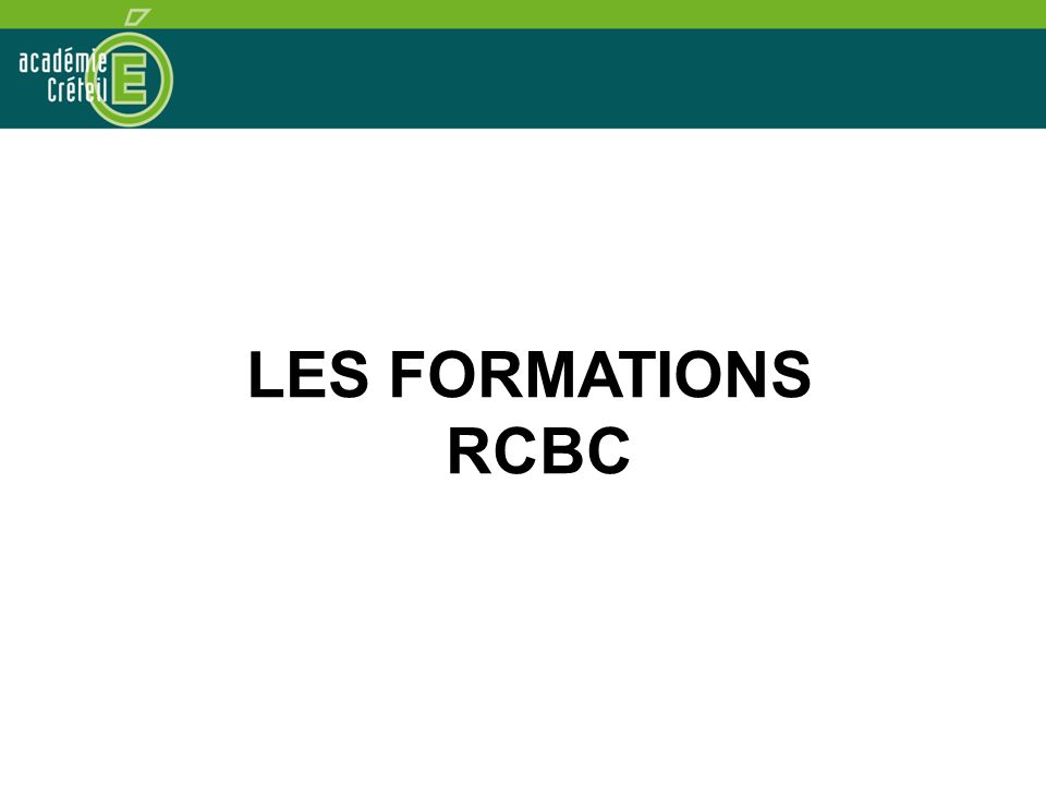 LES FORMATIONS RCBC
