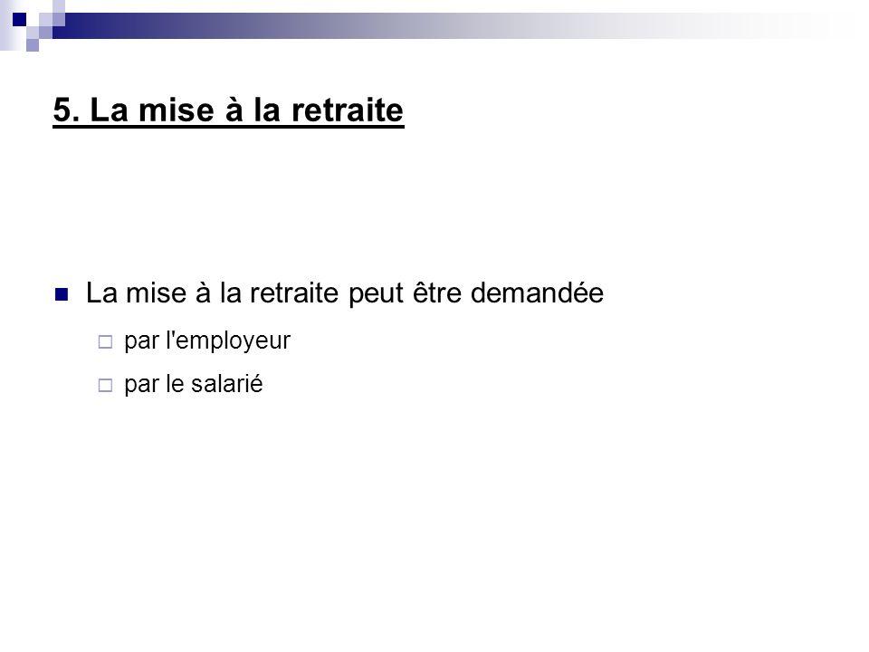 8.La rupture conventionnelle du contrat de travail Mise en place depuis Juillet 2008.
