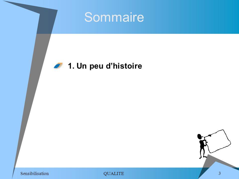 Sensibilisation QUALITE 4 Notre histoire (1/3) Un peu dhistoire Technique SectorielleMéthode Nos compétences Qualité