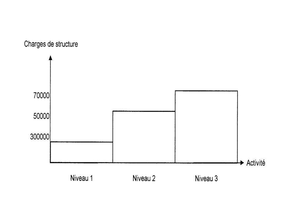 Les charges variables restant proportionnelles à lactivité, calculer: –Les charges variables –Les charges fixes –Le coût total –Les charges fixes unitaires –Les charges variables unitaires –Le coût moyen
