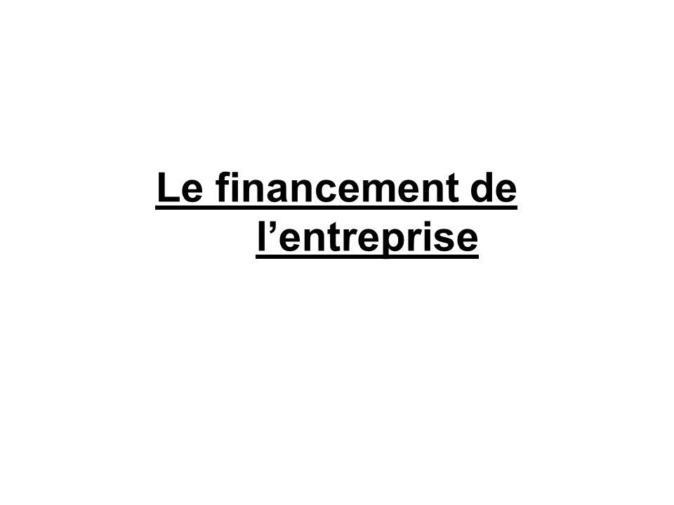 Le financement de lentreprise