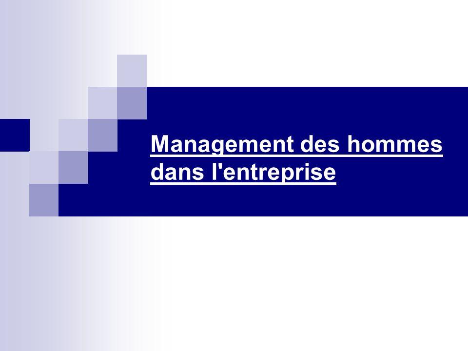 Management des hommes dans l'entreprise