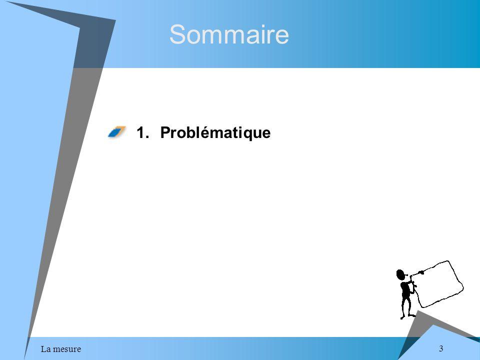 La mesure 3 Sommaire 1.Problématique