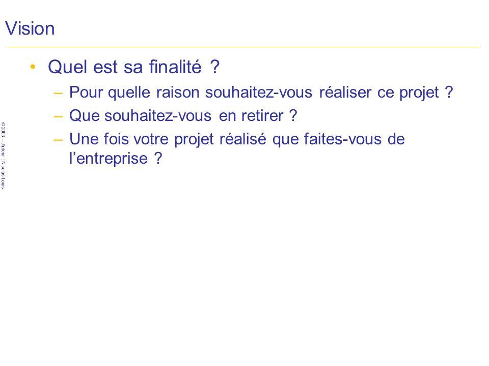 © 2006 – Auteur : Nicolas Louis Vision Quel est sa finalité .