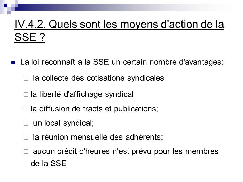 IV.4.2. Quels sont les moyens d action de la SSE .