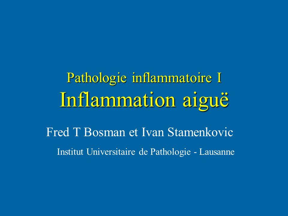 Pathologie inflammatoire I Inflammation aiguë Fred T Bosman et Ivan Stamenkovic Institut Universitaire de Pathologie - Lausanne