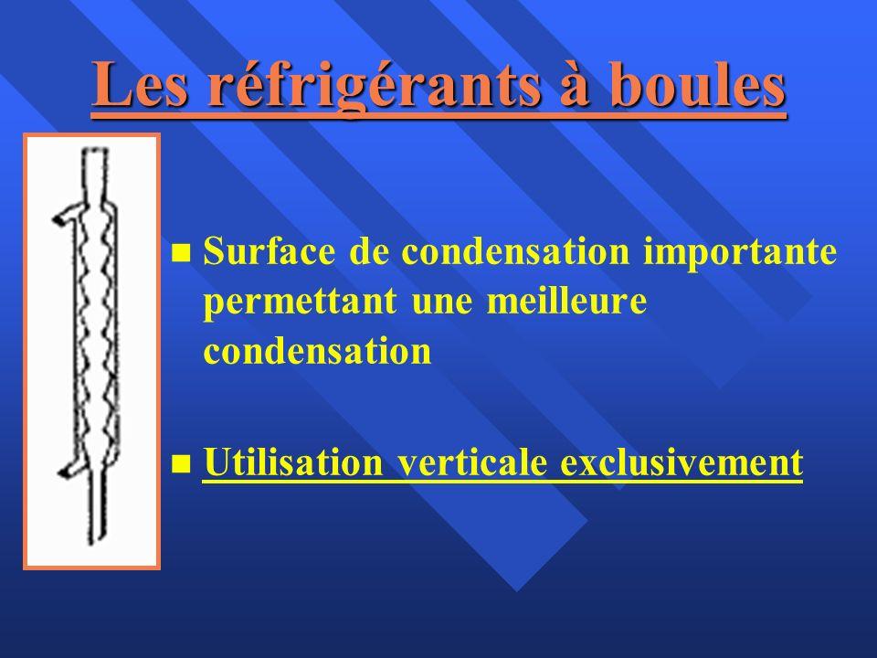 Les réfrigérants à boules n n Surface de condensation importante permettant une meilleure condensation n n Utilisation verticale exclusivement