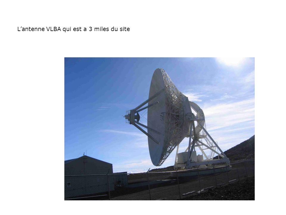 Lantenne VLBA qui est a 3 miles du site