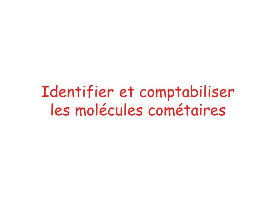 Identifier et comptabiliser les molécules cométaires