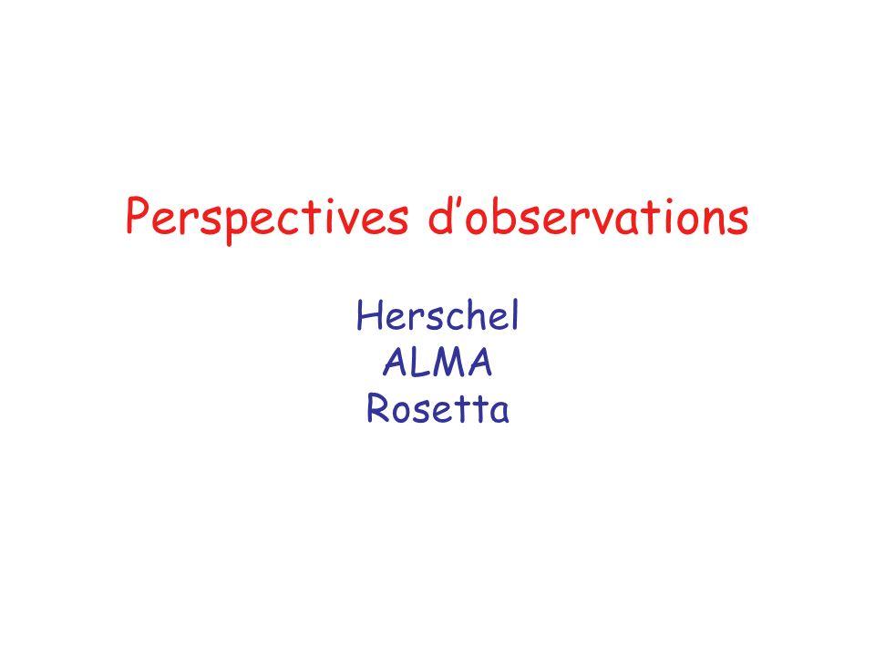 Perspectives dobservations Herschel ALMA Rosetta