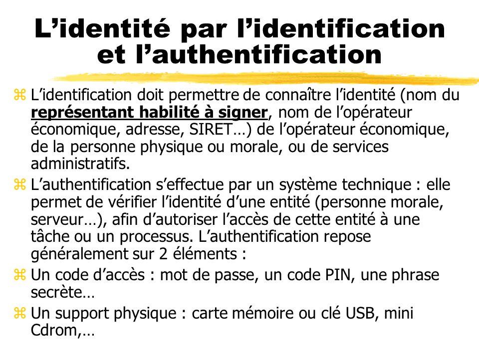 Sécurité, confidentialité et signature électronique z3 points fonctionnels principaux : zLidentité des entités (personnes physiques ou morales) zLa co